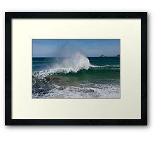 Waving Framed Print