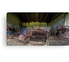 Unused Farm Equipment Canvas Print