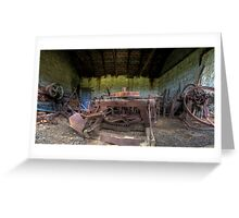 Unused Farm Equipment Greeting Card