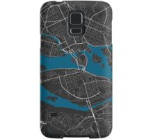 Stockholm city map black colour Samsung Galaxy Case/Skin