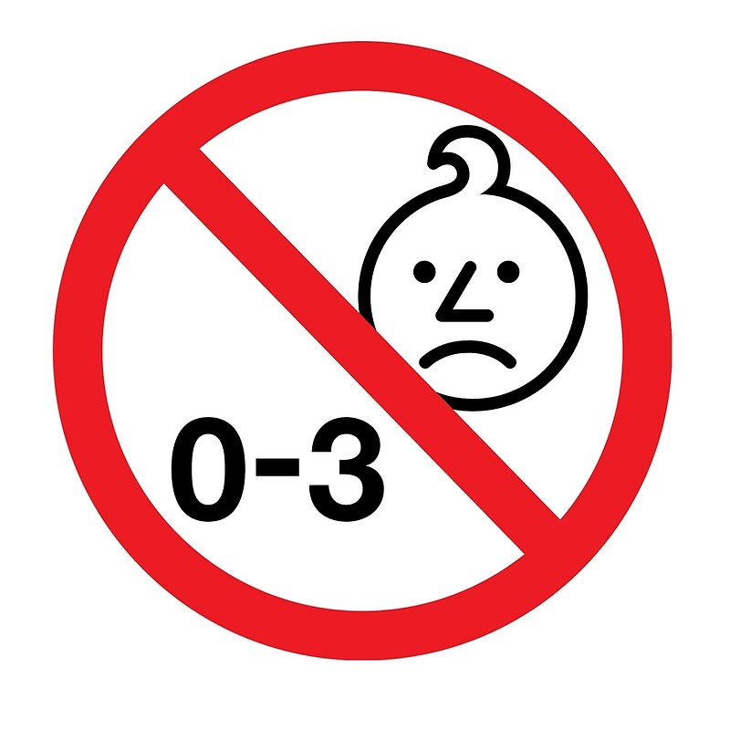 Not suitable for children logo
