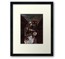SLAYER OF MEN ! Framed Print