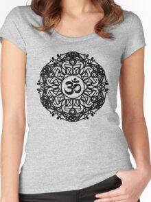 Flower Mandala & Om Women's Fitted Scoop T-Shirt