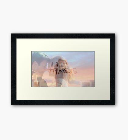 """Castle """"Always"""" Edit Framed Print"""