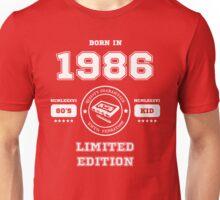 Born in 1986 Unisex T-Shirt