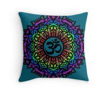 Rainbow Mandala & Om Throw Pillow