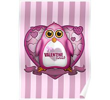 Valentine Loved - Pink Penguin Poster
