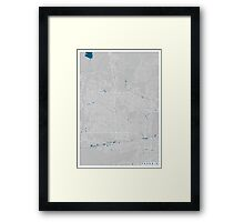 Phoenix city map grey colour Framed Print