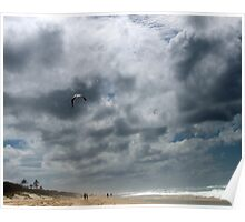 Gold Coast sea beach, Fly away - faraway ! Poster