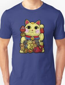 Lucky Cat and Kittens - Maneki Neko Unisex T-Shirt