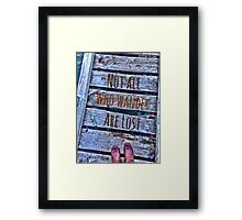 Wakatipu Wanderer Framed Print
