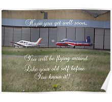 A Plane Get Well Message Poster