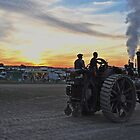 Steaming into the the sunset by Rob Hawkins