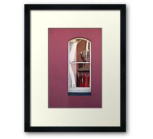 Phone Booth with Aircon Framed Print