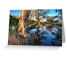 Mannum Falls Reflections Greeting Card