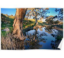 Mannum Falls Reflections Poster