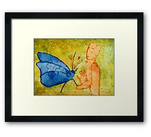 Don't deny a short-life butterfly's love Framed Print