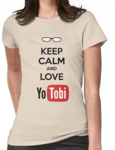 Keep Calm Yotobi Womens Fitted T-Shirt