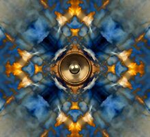 Music speaker kaleidoscope background by steveball