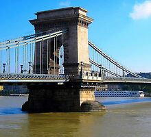 Budapest_Chain bridge and river Danube_Hungary_Europe.2010Sept by ambrusz