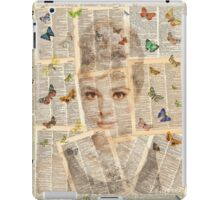 Loverly Audrey with Butterflies iPad Case/Skin