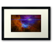 Stary wolf night — WOLF starfield  Framed Print