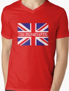 God save the Queen Mens V-Neck T-Shirt