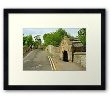 Baslow Bridge and Toll Shelter Framed Print