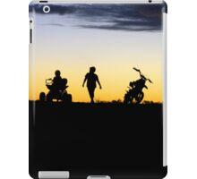 Outback Sunset - Kids on a motorbike iPad Case/Skin