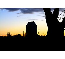 Outback Sunset - Dunny  Photographic Print