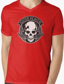 Metal Gear Solid - Outer Heaven (Gray) Mens V-Neck T-Shirt