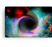 Black Hole In Space (Fractal Manipulation) Canvas Print