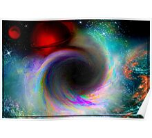 Black Hole In Space (Fractal Manipulation) Poster
