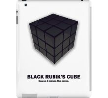 Black Rubik's Cube iPad Case/Skin
