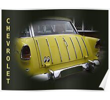 Yellow Trunk Chevy Poster