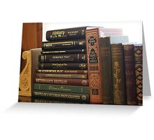 love old books and history books Greeting Card