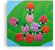 Ladybugs Canvas Print