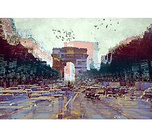 Parisian Mosaic - Piece 25 - Les Champs-Élysées Photographic Print