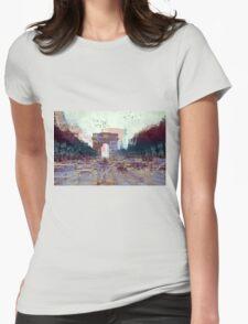 Parisian Mosaic - Piece 25 - Les Champs-Élysées Womens Fitted T-Shirt