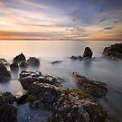 Port Seton Sunset by bluefinart