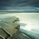 Scremerston Rocks by bluefinart