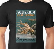Aquarium Octopus Vintage Poster Restored Unisex T-Shirt