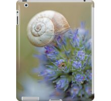 Snail on Sea Holly Flower iPad Case/Skin