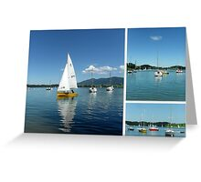 Sailing Boats on Forggensee Greeting Card
