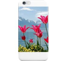 Tulips on the lakeside iPhone Case/Skin