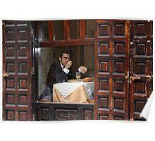 Memories of Spain 3 - Lonely Man Dinner in Madrid's Latin Quarter Poster