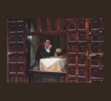 Memories of Spain 3 - Lonely Man Dinner in Madrid's Latin Quarter T-Shirt