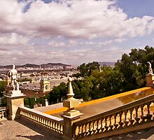 The Landscape of Montjuïc, Barcelona - Spain by Nira Dabush