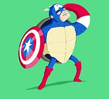 Heroes in a Half Shell: Captain America by danielspreitzer