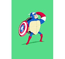 Heroes in a Half Shell: Captain America Photographic Print